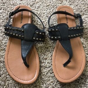 Black mossimo studded sandals